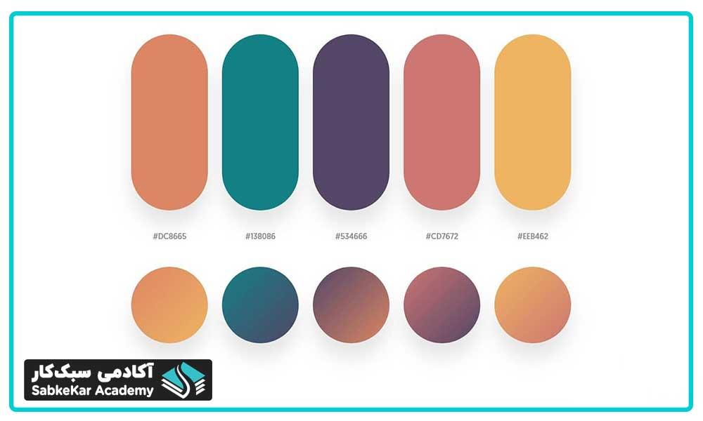 رنگ های مکمل در طراحی سایت